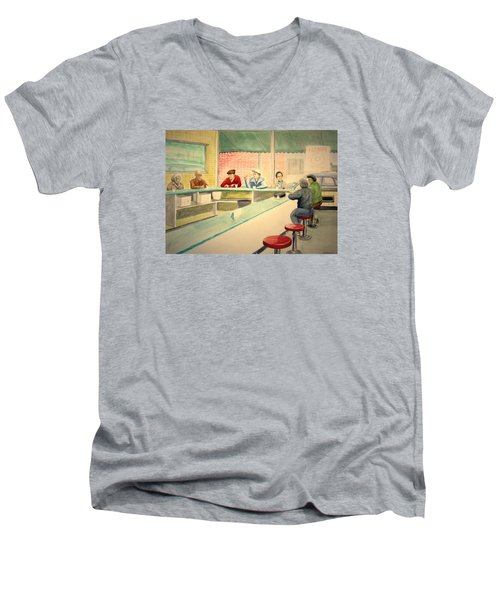 Coffee And Doughnuts Men's V-Neck T-Shirt by Stacy C Bottoms