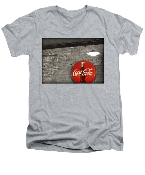 Coke Cola Sign Men's V-Neck T-Shirt