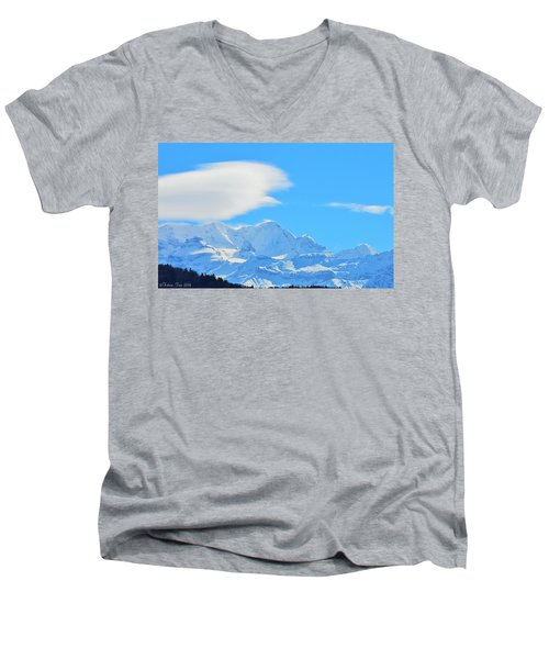 Cold And Sunny Alps Men's V-Neck T-Shirt