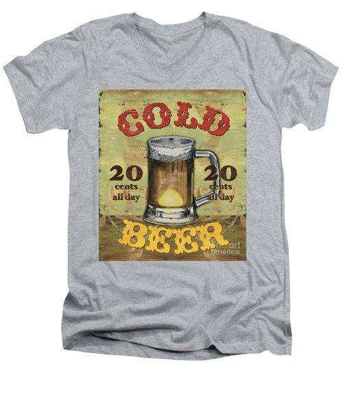 Cold Beer Men's V-Neck T-Shirt