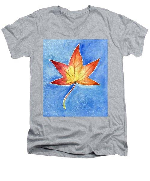 Cold Fall Sky Men's V-Neck T-Shirt