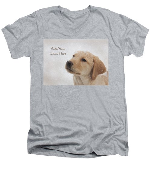 Cold Nose Warm Heart Men's V-Neck T-Shirt