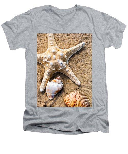 Collecting Shells Men's V-Neck T-Shirt