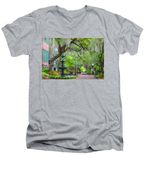 College Of Charleston Men's V-Neck T-Shirt