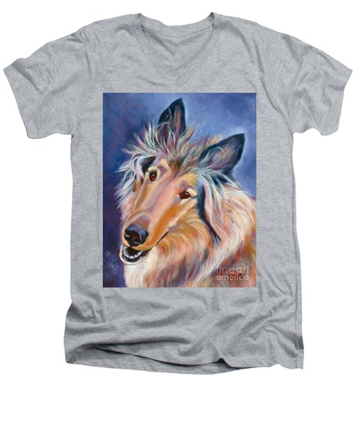 Collie Star Men's V-Neck T-Shirt