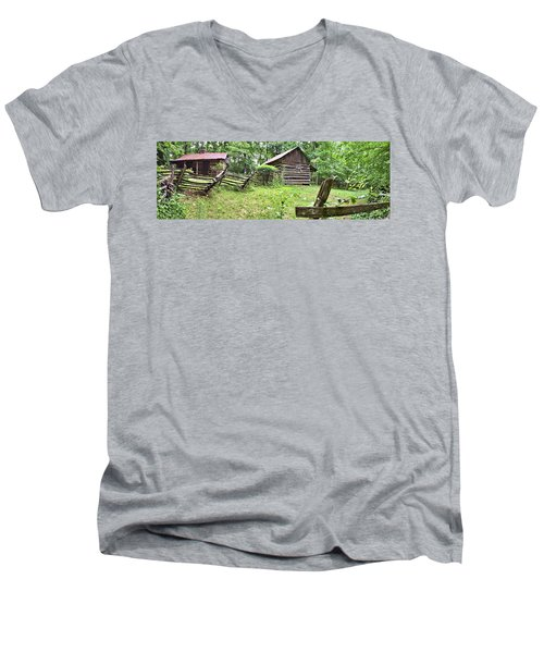 Colonial Village Men's V-Neck T-Shirt by Gordon Elwell