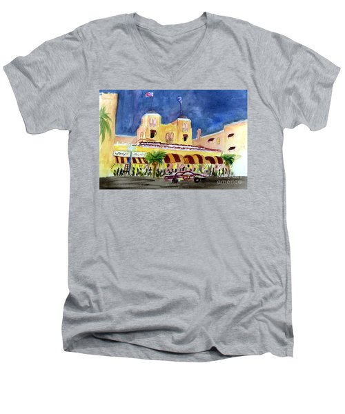 Colony Hotel In Delray Beach Men's V-Neck T-Shirt