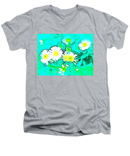 Men's V-Neck T-Shirt featuring the photograph Color 7 by Pamela Cooper