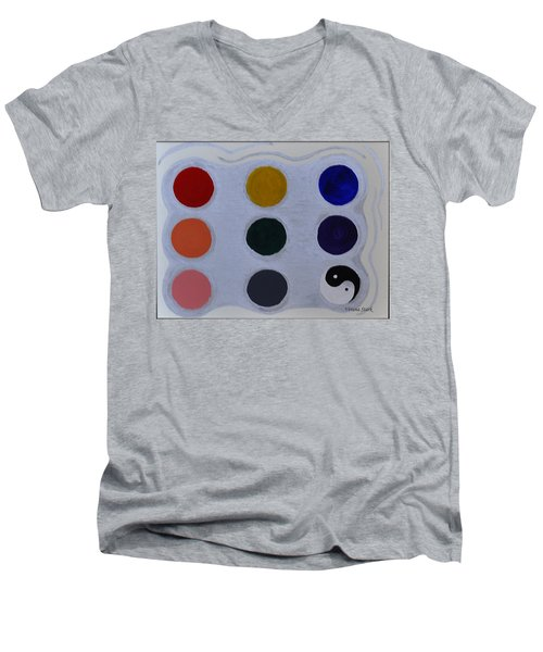 Color From The Series The Elements And Principles Of Art Men's V-Neck T-Shirt by Verana Stark