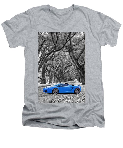 Color Your World - Lamborghini Gallardo Men's V-Neck T-Shirt by Steve Harrington