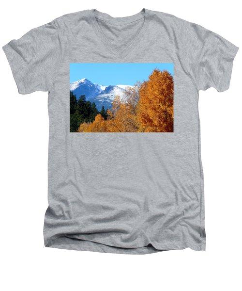 Colorado Mountains In Autumn Men's V-Neck T-Shirt