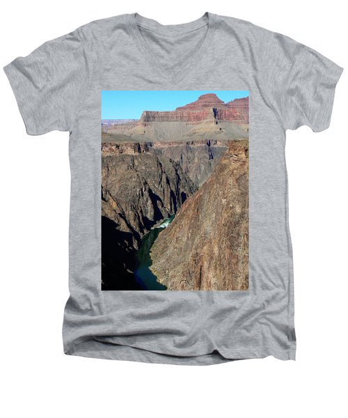 Colorado River From Plateau Point Men's V-Neck T-Shirt