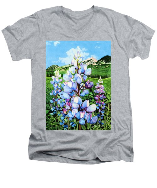 Colorado Summer Blues Men's V-Neck T-Shirt