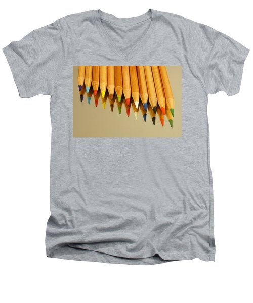 Colored Pencils Men's V-Neck T-Shirt