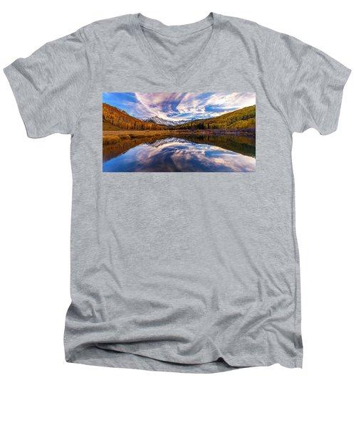 Colorful Reflection Men's V-Neck T-Shirt