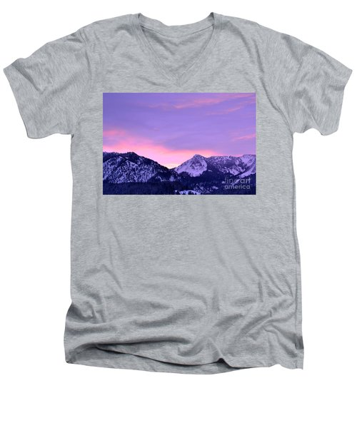 Colorful Sunrise No. 1 Men's V-Neck T-Shirt