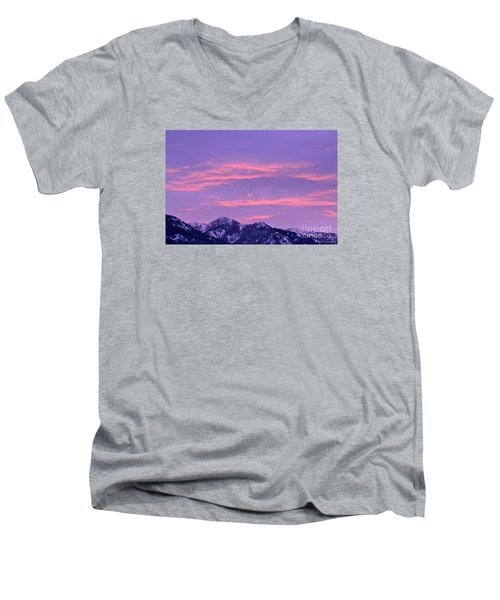 Colorful Sunrise No. 2 Men's V-Neck T-Shirt