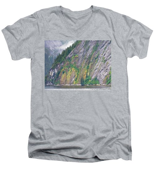 Colors Of Alaska - Misty Fjords Men's V-Neck T-Shirt