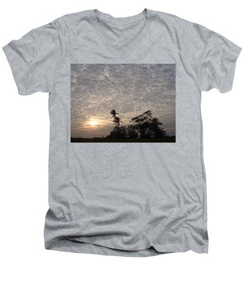 Men's V-Neck T-Shirt featuring the photograph Colors Of Nature by Bliss Of Art
