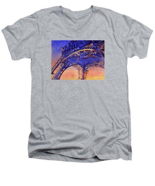 Colors Of Paris- Eiffel Tower Men's V-Neck T-Shirt