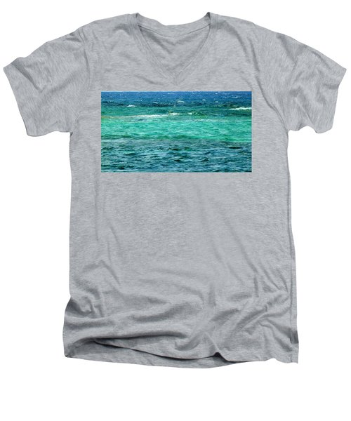 Colors Of The Sea  Men's V-Neck T-Shirt