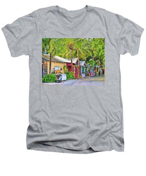 Lazy Way Lane Men's V-Neck T-Shirt