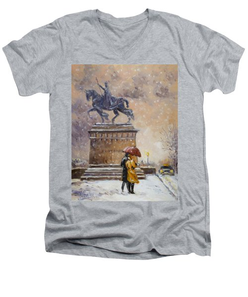 Colors Of Winter - Saint Louis Men's V-Neck T-Shirt
