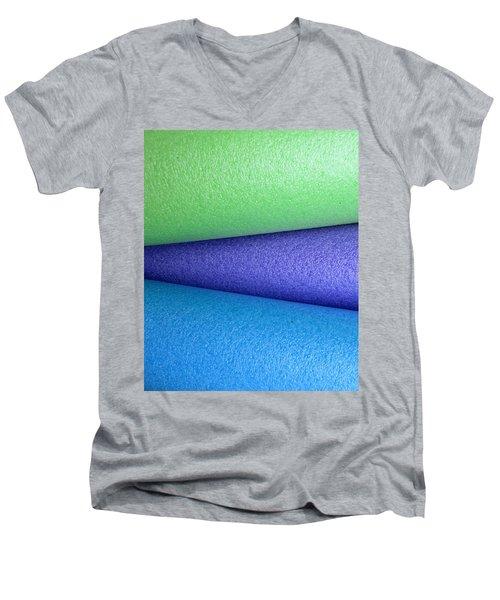 Colorscape Tubes B Men's V-Neck T-Shirt