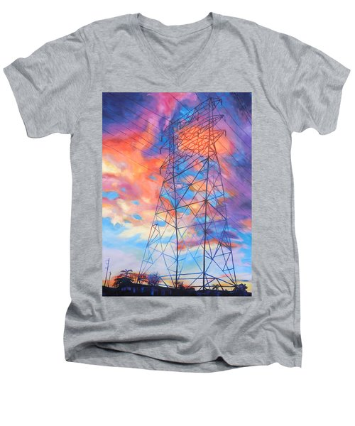 Colossus Men's V-Neck T-Shirt by Bonnie Lambert
