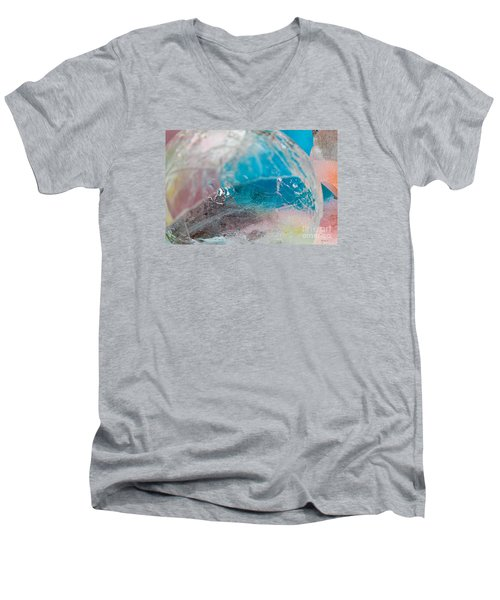 Coloured Ice Creation Print #4 Men's V-Neck T-Shirt by Nina Silver