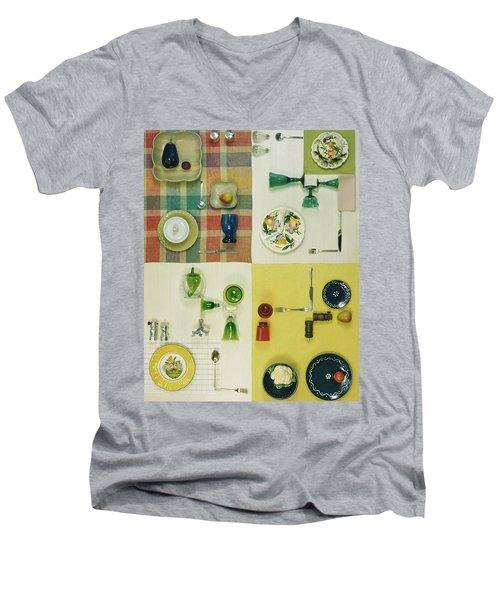 Colourful Table Settings Men's V-Neck T-Shirt