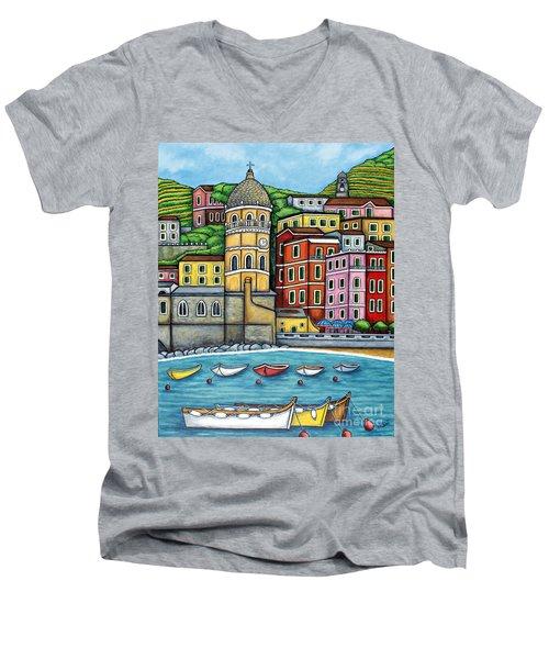 Colours Of Vernazza Men's V-Neck T-Shirt