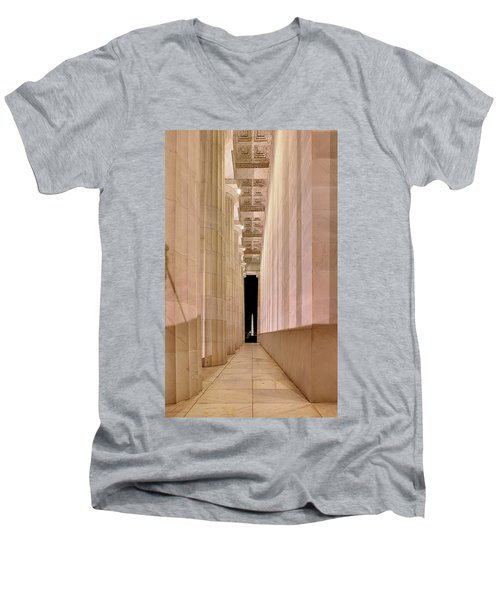 Columns And Monuments Men's V-Neck T-Shirt