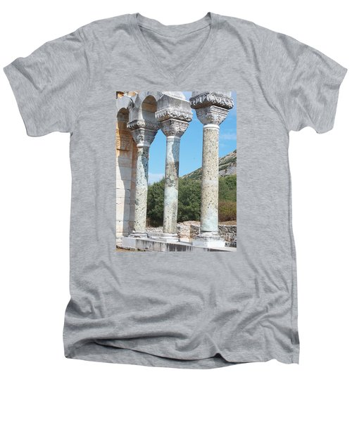 Columns Men's V-Neck T-Shirt