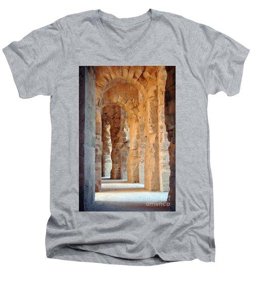 Columns Men's V-Neck T-Shirt by Randi Grace Nilsberg