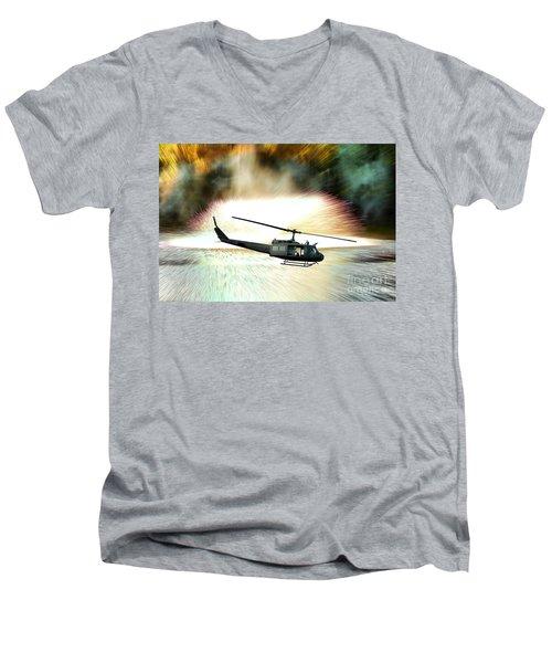 Combat Helicopter Men's V-Neck T-Shirt