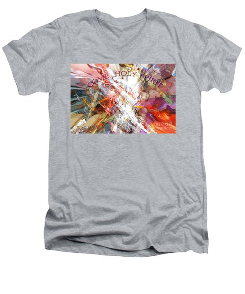 Come Holy Spirit Men's V-Neck T-Shirt by Margie Chapman