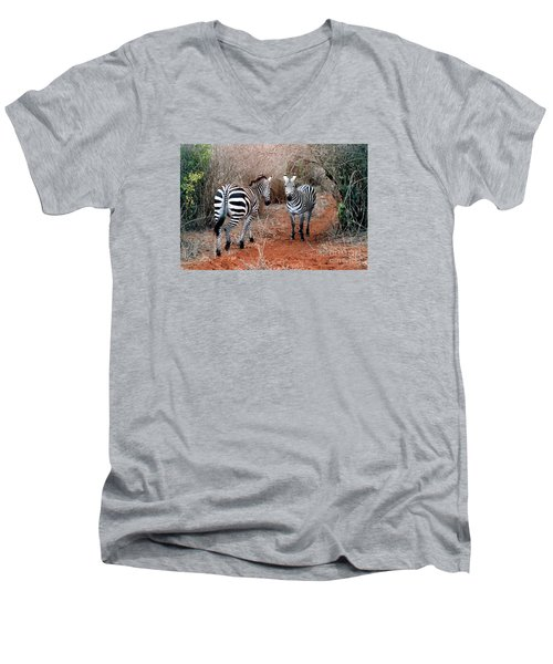 Men's V-Neck T-Shirt featuring the photograph Coming And Going by Phyllis Kaltenbach