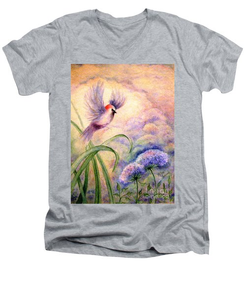 Coming To Rest Men's V-Neck T-Shirt by Hazel Holland