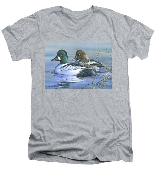 Common Goldeneye Men's V-Neck T-Shirt by Mike Brown