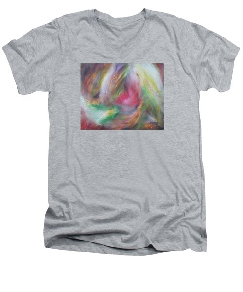 Compassion Men's V-Neck T-Shirt by Becky Chappell