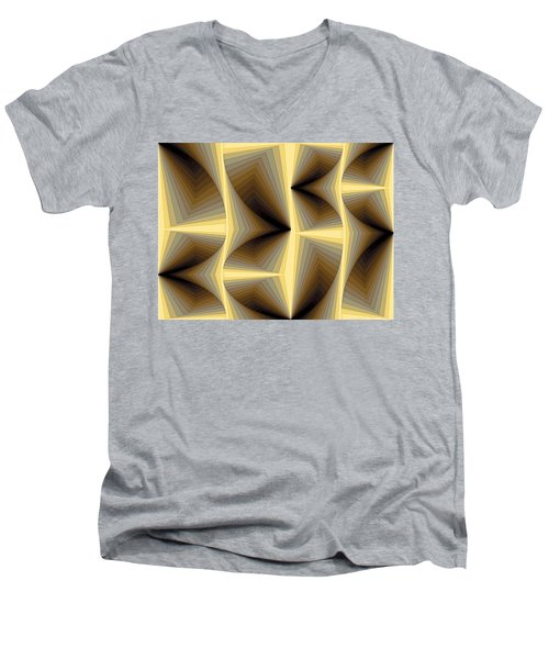 Composition 252 Men's V-Neck T-Shirt by Terry Reynoldson