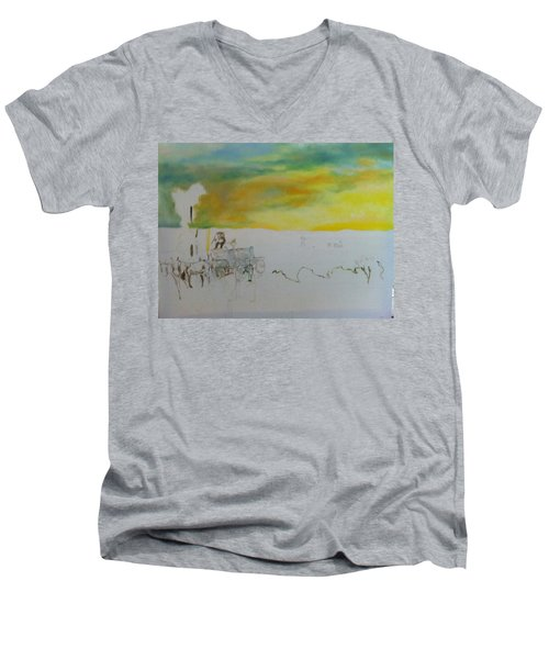 Composition Men's V-Neck T-Shirt by Mary Ellen Anderson