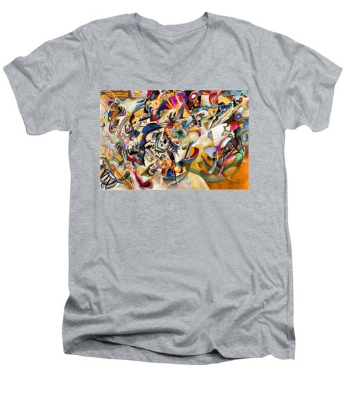 Composition Vii  Men's V-Neck T-Shirt