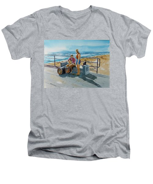 Concert In The Sun To An Audience Of One Men's V-Neck T-Shirt