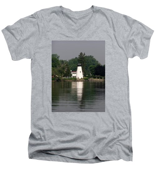 Concord Point Lighthouse Men's V-Neck T-Shirt