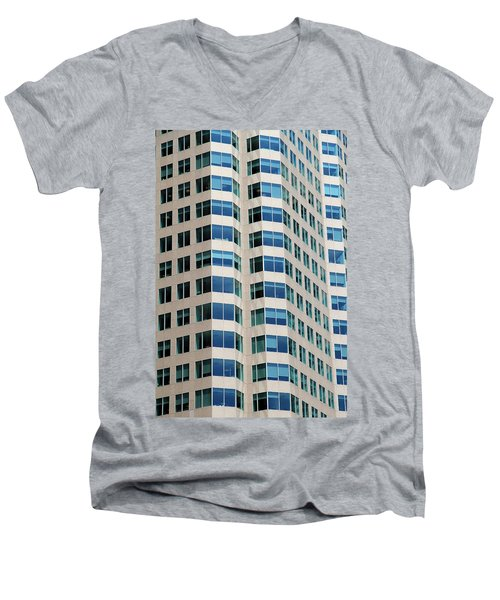 Concrete And Blue Glass Men's V-Neck T-Shirt