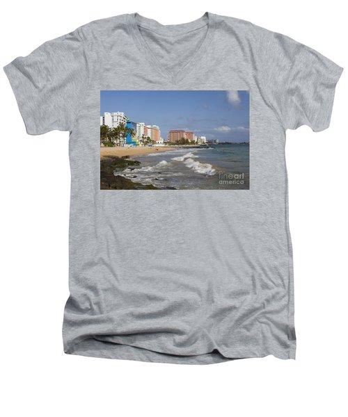 Condado Beach San Juan Puerto Rico Men's V-Neck T-Shirt