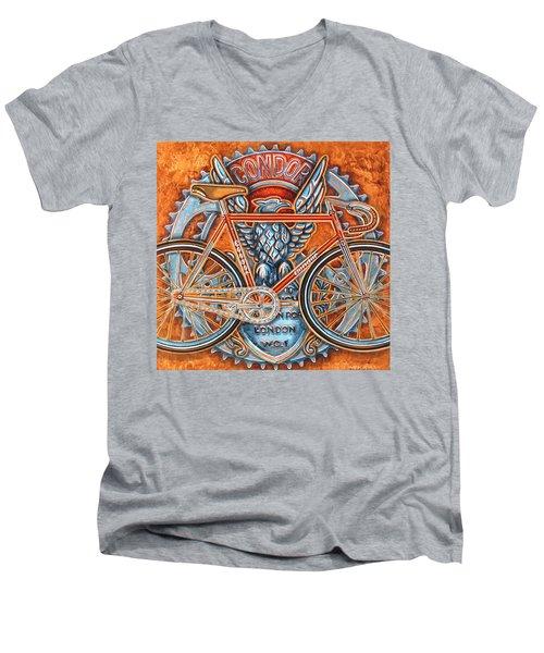 Men's V-Neck T-Shirt featuring the painting Condor Fixed by Mark Howard Jones