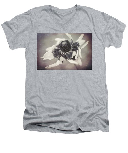 Coneflower In Monochrome Men's V-Neck T-Shirt